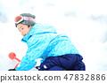 เด็ก ๆ เพลิดเพลินกับหิมะ 47832886