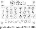 Vector Illustration Design ai Hand Drawn Dharmoto Star Astrology Planet Symbol Mark Set 47833186