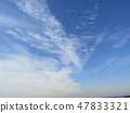Winter blue sky and white clouds 47833321