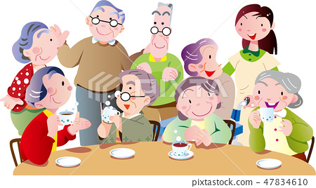 在茶室裡的老人談話 47834610