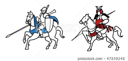 騎士和武士 - 移動 47839248