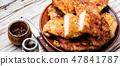 Grilled chicken breast steak 47841787