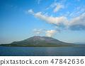 Scenery of Sakurajima seen from the ferry 47842636