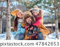 child, family, winter 47842653