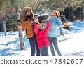 kid, child, snow 47842697