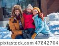 child, family, winter 47842704