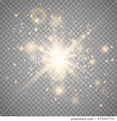 Star burst with sparkle isolated. 47844759