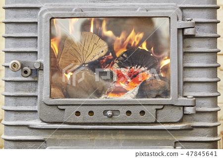 木柴,木柴,壁爐,壁爐 47845641