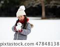 有一個小雪人的孩子 47848138