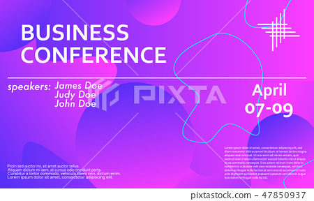 Business conference invitation design template. - Stock ...