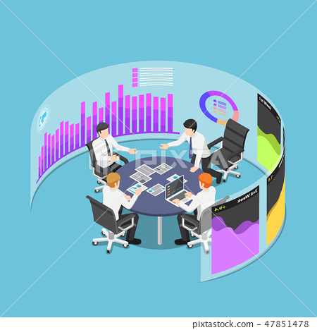 Business team in conference with marketing data 47851478