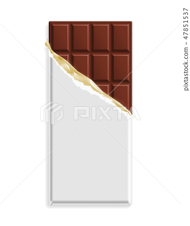 Milk chocolate bar in a blank wrapper 47851537