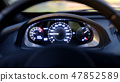 The car pics up speed, the load on the engine, tachometer, dashboard 47852589