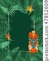 Summer Tropical Background Design 47852609