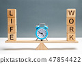 choice between life and work.  47854422