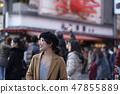 Women enjoying sightseeing in Osaka 47855889
