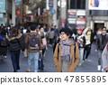 Women enjoying sightseeing in Osaka 47855895