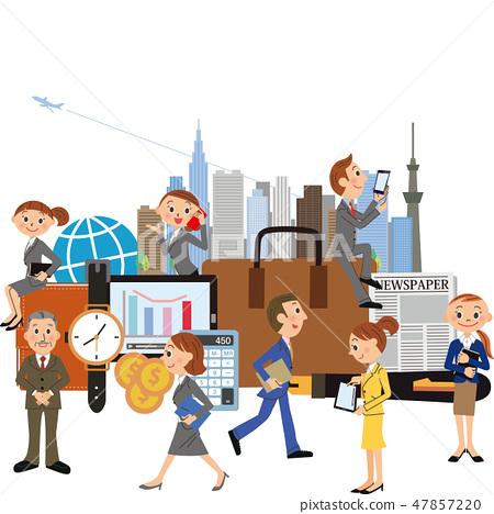 ฉากธุรกิจของคนทำงาน 47857220