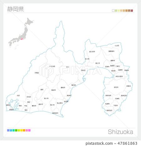 靜岡縣(市町村)地圖 47861863