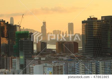 Sunset  downtown city, kwun tong 47861865