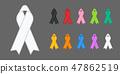 Colorful Awareness Ribbons 47862519