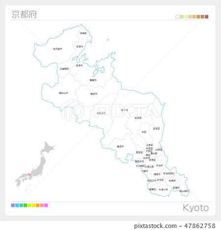 쿄토부의지도 (시정촌 · 구분) 47862758