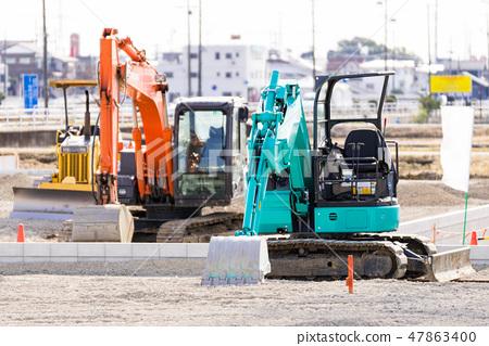 施工現場的重型機械 47863400