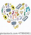 음악, 노래, 디자인 47866961