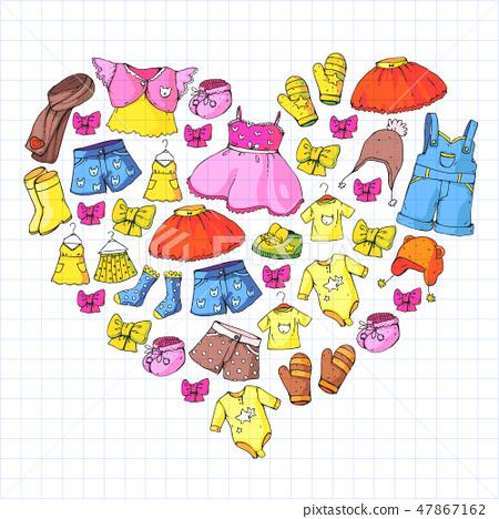Children Clothes Background For Babies Kids Stock Illustration 47867162 Pixta