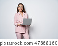 female, laptop, woman 47868160