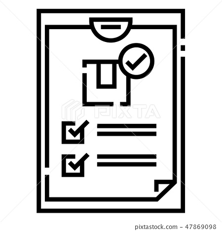 Shipping restrictions Line illustration 47869098