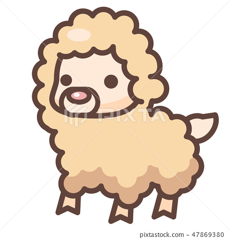 Alpaca LineColor illustration 47869380