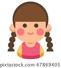 Sister flat illustration 47869405