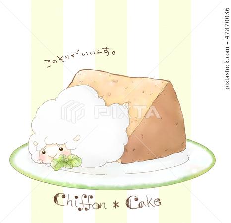 Kurimu Sheep Chiffon Cake 47870036