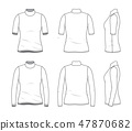 Blank clothing templates. 47870682