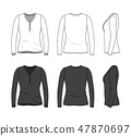 Blank clothing templates. 47870697