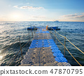 Pontoon in sea 47870795