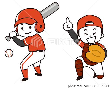 야구 선수의 남자 47873241