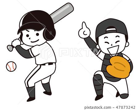 야구 선수의 남자 47873242