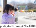 一個扮演肥皂泡的孩子 47874000