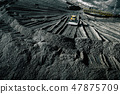 Open pit mine. Aerial view of extractive industry 47875709