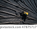 Open pit mine. Aerial view of extractive industry 47875717