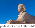 Sphinx near Pompeys Pillar in Alexandria 47876860