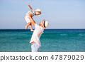 해변, 바다, 가족 47879029