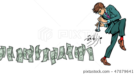 money goes for businessman, Isolate on white background 47879641