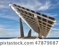 Big solar panel in Barcelona of Spain 47879687