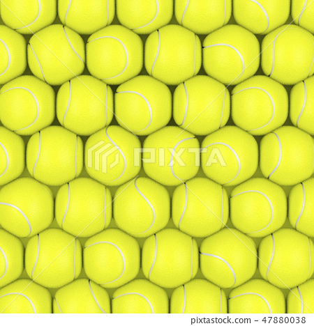 Rows with tennis balls 47880038