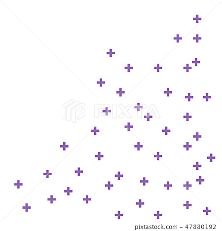Abstract purple geometric medical cross shape medicine and science concept background 47880192