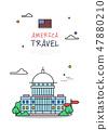 美國世界旅行線圖 47880210