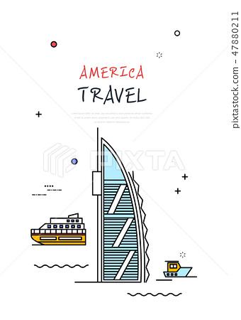 美國世界旅行線圖 47880211